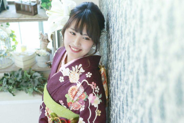 生花で素敵なヘアアレンジ☆成人式前撮り