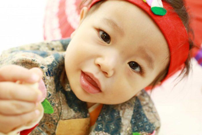 きびだんご、食べる?♪1歳バースデーフォト