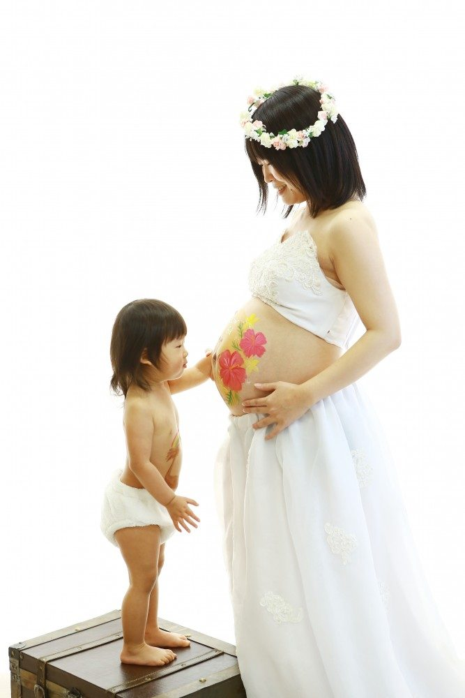 妊娠中にしか味わえない喜び♪岐阜創寫舘のマタニティペイント