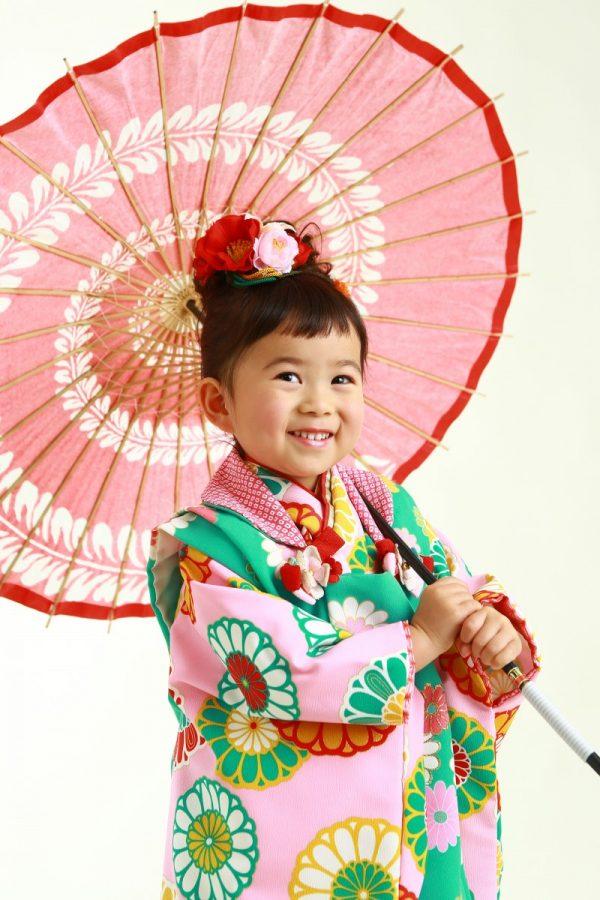 可愛い笑顔の七五三(#^^#)