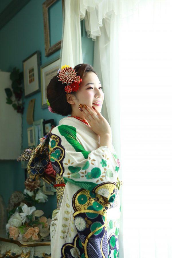 ママ振り衣装と当店レンタル衣装 2着の撮影
