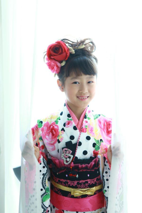 可愛い753撮影 7歳着物 ドレス