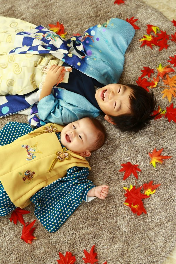 お兄ちゃんの笑顔と弟君の笑顔 最高! 七五三撮影