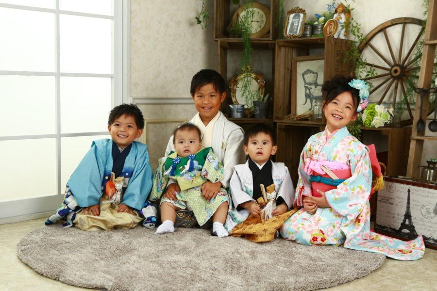 家族大集合 七五三撮影 家族写真