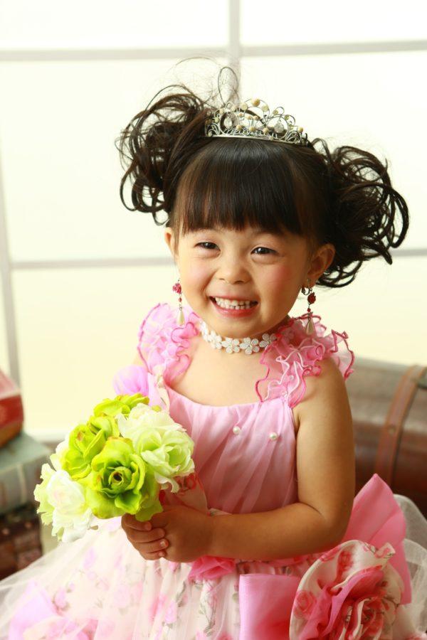 どんな時もニッコニコ笑顔の3歳七五三撮影