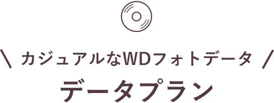 カジュアルなWDフォトデータ データプラン