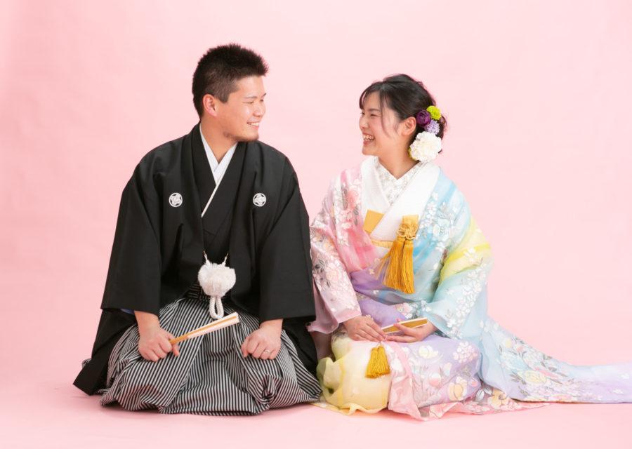 笑顔がとっても素敵な花嫁さんとお婿さん