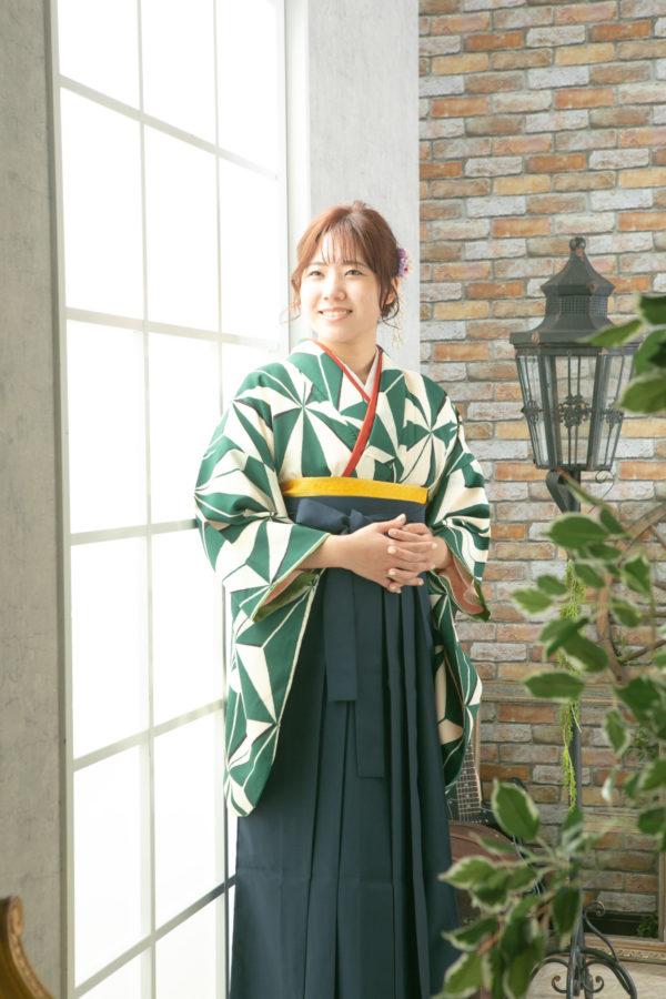卒業袴で記念フォト