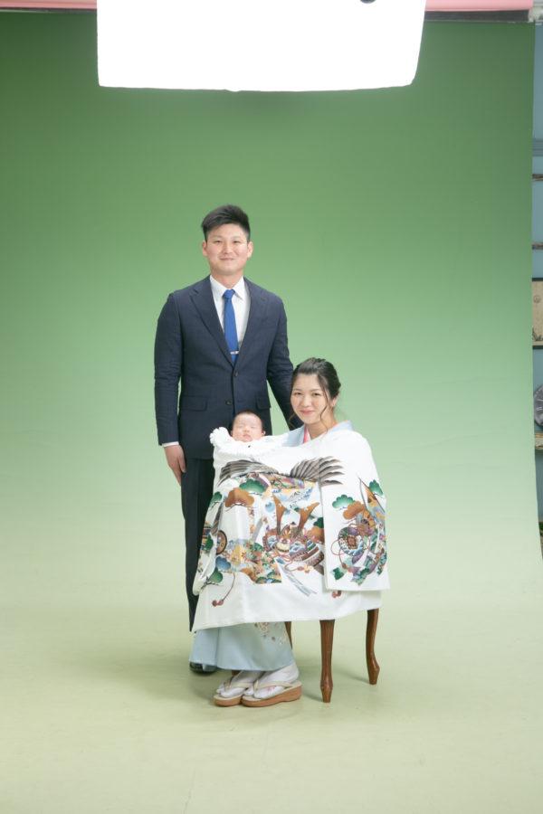 家族でお宮参り撮影